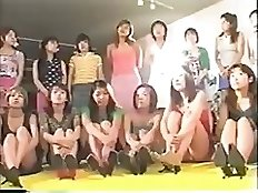 Japanese scat domination - 25mistresses shits on one slave