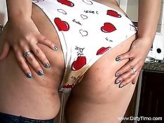 Plump babe has polluted her panties